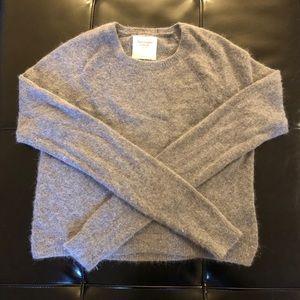 A&F Gray fuzzy sweater. EUC. Size Small.
